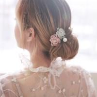 신비 플라워 웨딩 한복 뒤꽂이 비녀