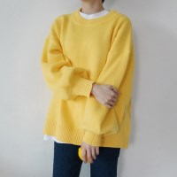 Pudding color knit