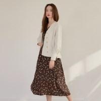 [치즈달] relaxed floral dress