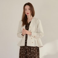 [치즈달] ivory volume blouse