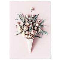 패브릭 포스터 F202 보테니컬 식물 아이스크림 꽃