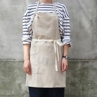 stripe short apron _ 2 color