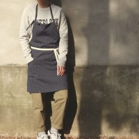 stripe short apron _ 2 color