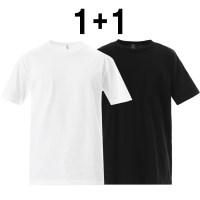 [한정]AAA [1+1] 어덜트 반팔 티셔츠 화이트+블랙 1301_WHITE 1301_B