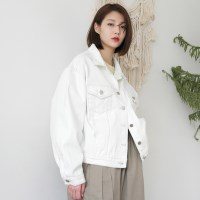 Charming over denim jacket