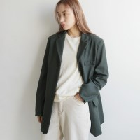 Mannish soft wool jacket