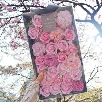 장미 비누꽃 박스