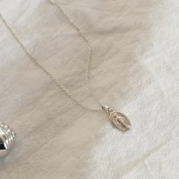 silver maria necklace (basic)