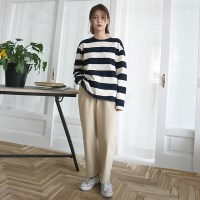 Pure crop cotton pants