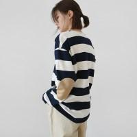 Comfort stripe cotton tee