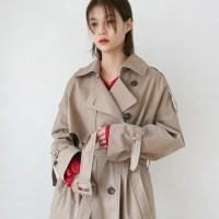 Over casual trench coat