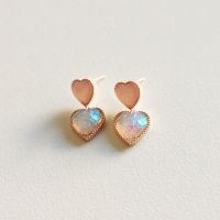 [블레싱] 핑크 하트 귀걸이