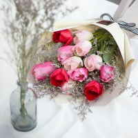 풍성한 튤립 꽃다발 (대)