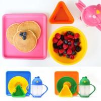 [롤라랜드] 미국 유아식기 4종(빨대컵+접시+볼+디핑컵)-디자인선택