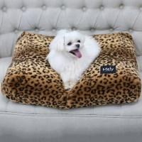멜리펫 엄마쿠션 레오파드 브라운 강아지 퍼방석