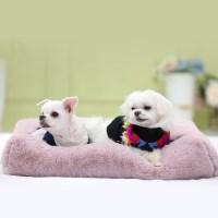 멜리펫 엄마쿠션 핑크 강아지 퍼방석