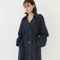 Everyday cotton trench coat