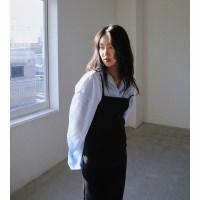 [치즈달] semi-sheer stripe shirts
