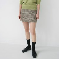 Sensible check mini skirt