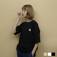 2051 NY 자수 반팔 티셔츠 (3colors)