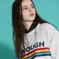 [2/23발송] RAINBOW SWEAT SHIRT ASH