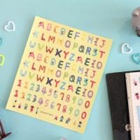 투명 다이어리 데코 스티커02 알파벳&숫자