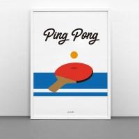 유니크 인테리어 디자인 포스터 M 핑퐁 탁구