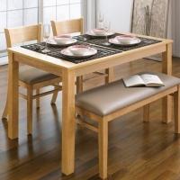 아리아퍼니쳐 Cabin-4-Natural 다이닝테이블 (table only)