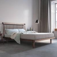 [스코나]그리핀 월넛 원목 퀸 침대(매트리스 별도)_(602601361)