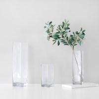 투명 유리병 - 클린 사각