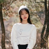 [Organic cotton] Cat TNR - white. (발목양말 증정)