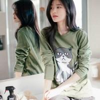 [Organic cotton] Cat TNR - green. (발목양말 증정)