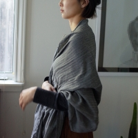 Long Herringbone Scarf (GRAY)