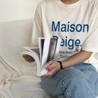 파스텔 메종 티셔츠