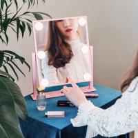 [라쏨] 조명 메이크업 거울 마이스위트데이 핑크