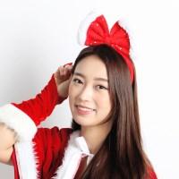 크리스마스리본머리띠 [레드]