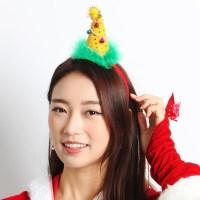 크리스마스 깃털고깔머리띠 [옐로우]