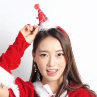 크리스마스 깃털고깔머리띠 [레드]
