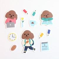 푸댕이의 학교생활 조각스티커