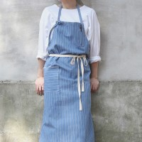 denim stripe apron