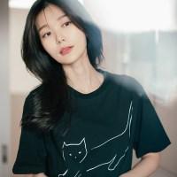 [Organic cotton] The Cat (black) - 발목양말 선물 증정