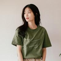 [Organic cotton] The Cat (green) - 발목양말 선물 증정