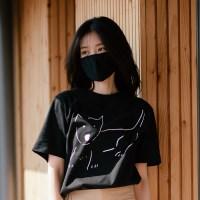 [Organic cotton] The Dog (black) - 발목양말 선물 증정