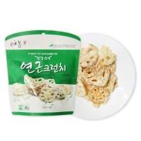 채소 튀각 연근 크런치25g 4봉+1봉_(789017)