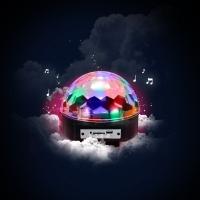 LED미러볼 파티 휴대용 노래방조명 싸이키