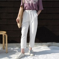 Natural cotton pants