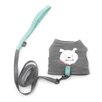 [monchouchou] My Dog Cotton Harness_Charcoal