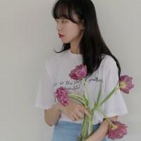 [치즈달] 'thin beautiful' 그래픽 티셔츠