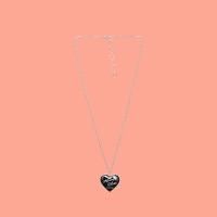 HEART MEDAL NECKLACE (얼모스트블루 목걸이)