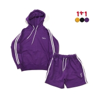 [1+1] Stripe Hoodie1개+Stripe Track Shorts 1개 (3color)